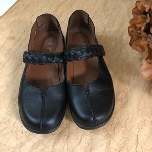 Hotter comfort concepts black leather shake shoes